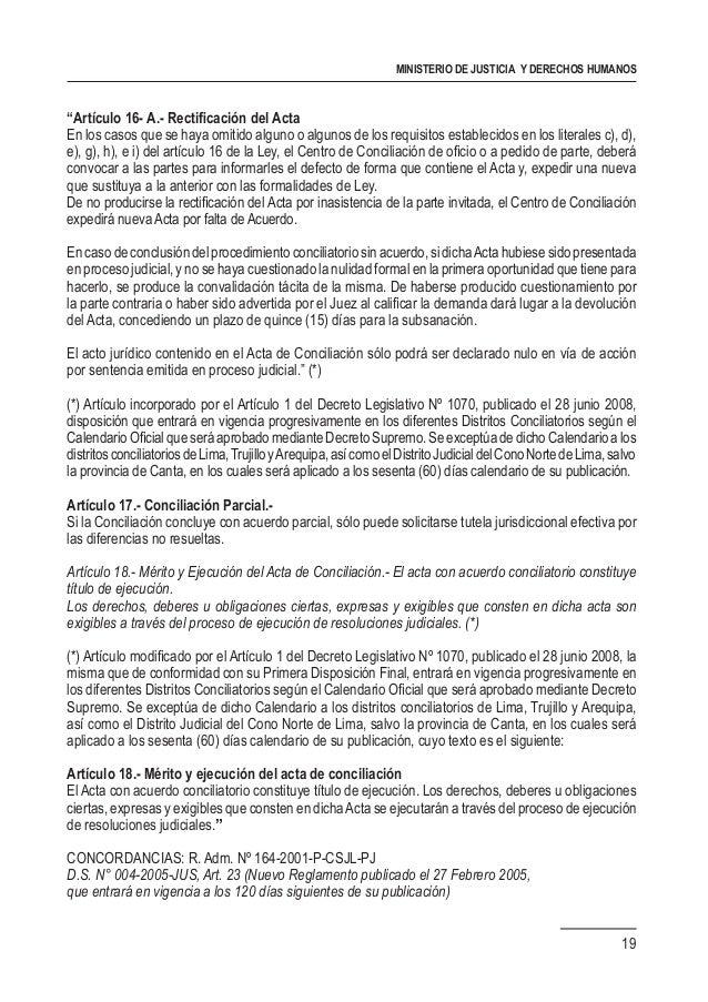 Compendio de normas de conciliacion extrajudicial for Que es un proceso extrajudicial