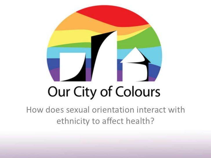 How does sexual orientation interact with      ethnicity to affect health?