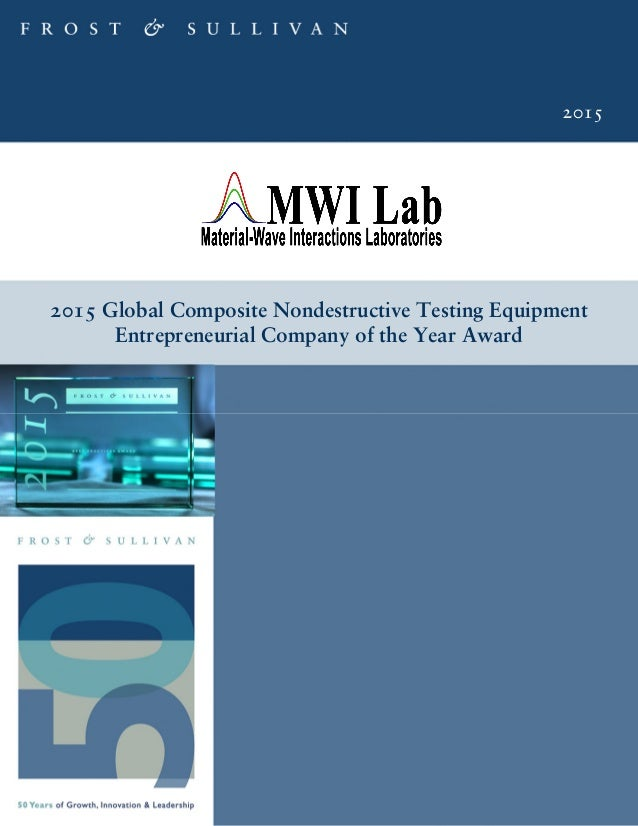 2015 2015 Global Composite Nondestructive Testing Equipment Entrepreneurial Company of the Year Award