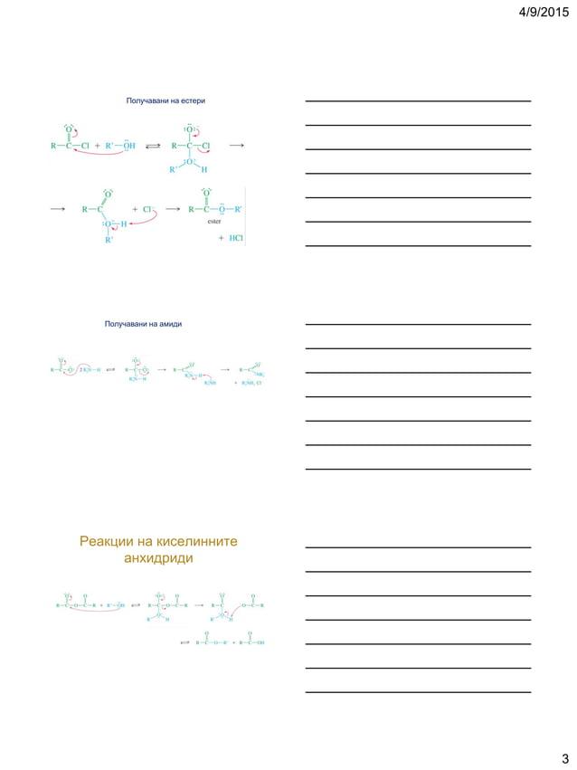 4/9/2015 3 Получавани на естери Получавани на амиди Реакции на киселинните анхидриди