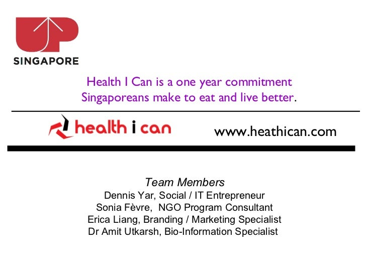 Health I Can is a one year commitmentSingaporeans make to eat and live better.                             www.heathican.c...