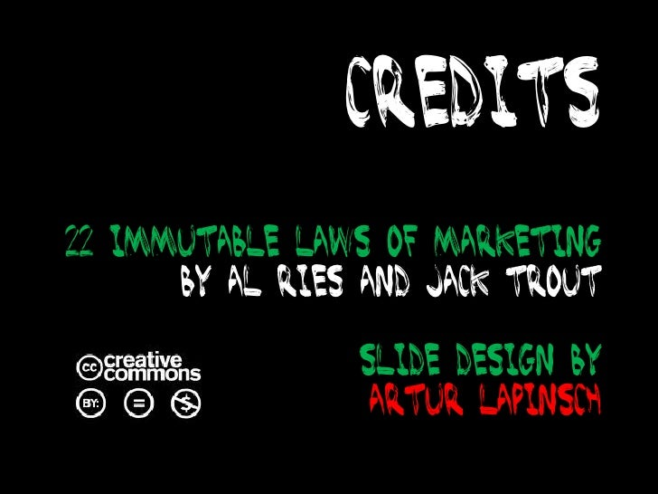 immutable laws of marketing This is a summary of a book i just read from al ries y jack trout the 22  immutable laws of marketing (1993), it has 24 years now but i think.
