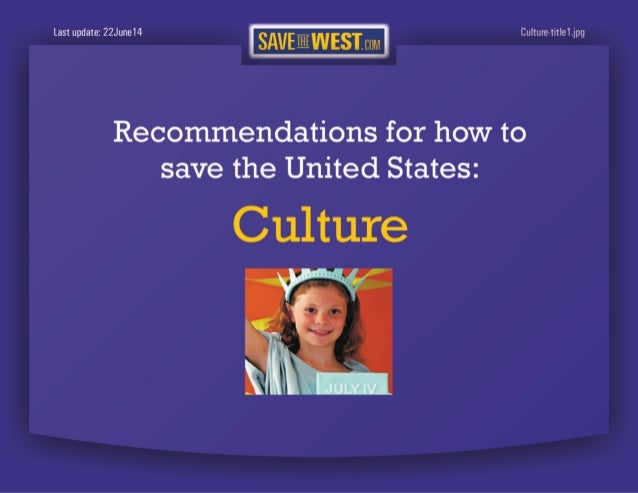 SaveTheWest's Cultural recommendations