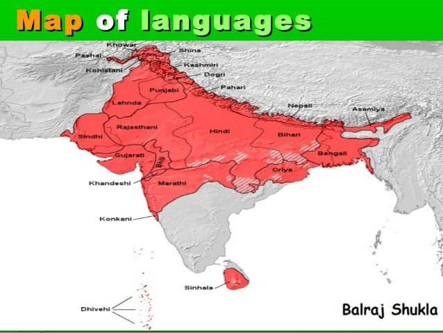 MapMap ofof languageslanguages
