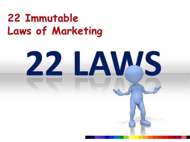 22 ImmutableLaws of Marketing