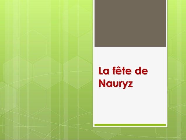 La fête de Nauryz