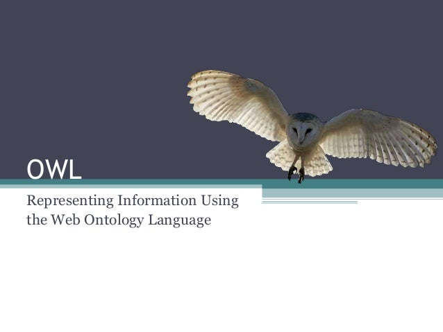OWL Representing Information Using the Web Ontology Language