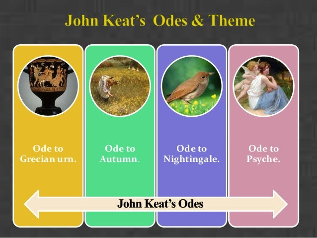 comparing keats odes I have looked at ode on a grecian urn, ode on melancholy and ode to autumn and i think some important comparisons can be drawn from them each poem has been chosen because i think that the ideas conveyed in them are among the more significant in keats's works ode on a grecian urn discuses the idea of.