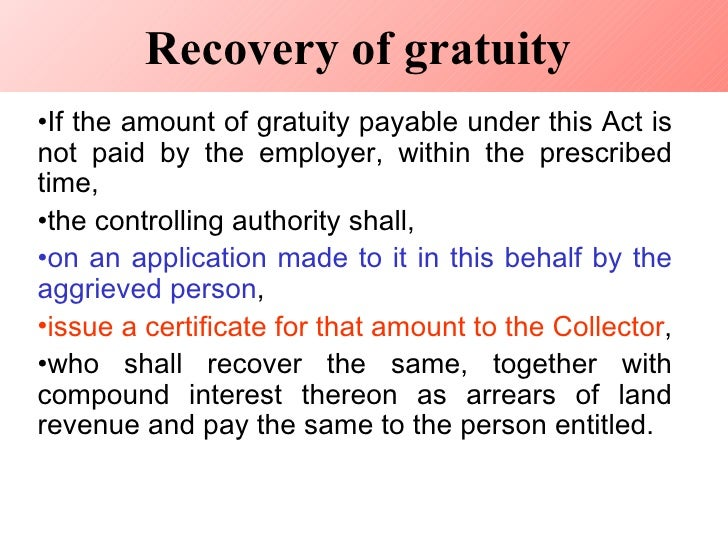 A Look at the Payment of Gratuity Act, 1972