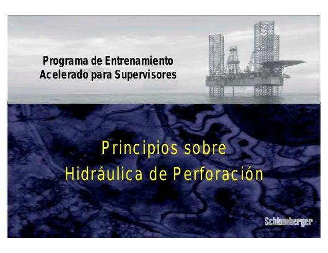 Principios sobre Hidráulica de Perforación IPM 1 Principios sobre Hidráulica de Perforación Programa de Entrenamiento Acel...