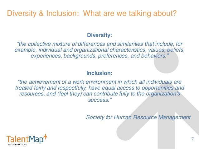 diversity and inclusion an organization emperical The organizational inclusion assessment the purpose of this assessment is to help you determine where to focus your energy in developing an inclusion process that fits your organization's readiness level.