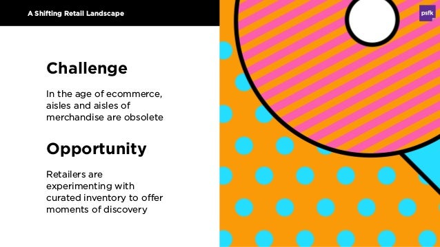 Opportunity Retailers are experimenting with curated inventory to offer moments of discovery A Shifting Retail Landscape C...