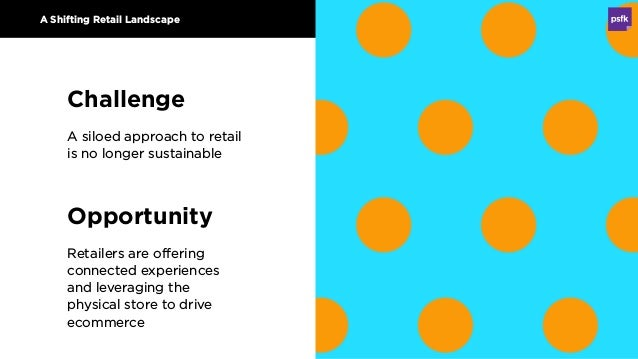 Opportunity Retailers are offering connected experiences and leveraging the physical store to drive ecommerce A Shifting R...