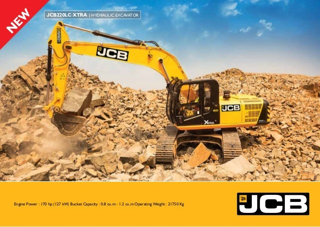22 Tonne Excavator for Construction Industry - JCB 220LC Xtra