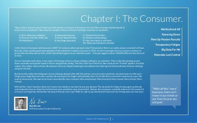 Chapter I: The Consumer. Take a look at anyone's search history on their phone or computer and chances are you'll find a st...