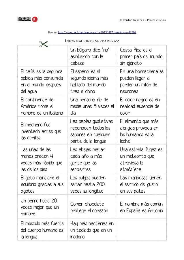 Deverdadlosabes–ProfeDeEle.es  Fuente: http://www.cookingideas.es/sabia-20130417.html#more-42966  INFORMACIONES VERDA...