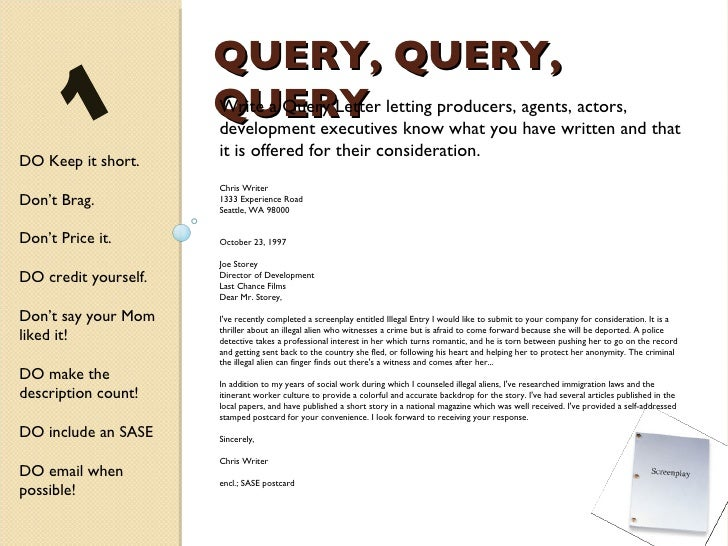 Query letter screenplay dolapgnetband query letter screenplay altavistaventures Choice Image