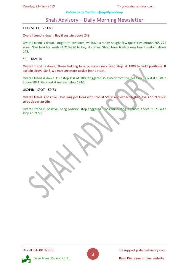 Daily Newsletter -23-07-2013 Slide 3