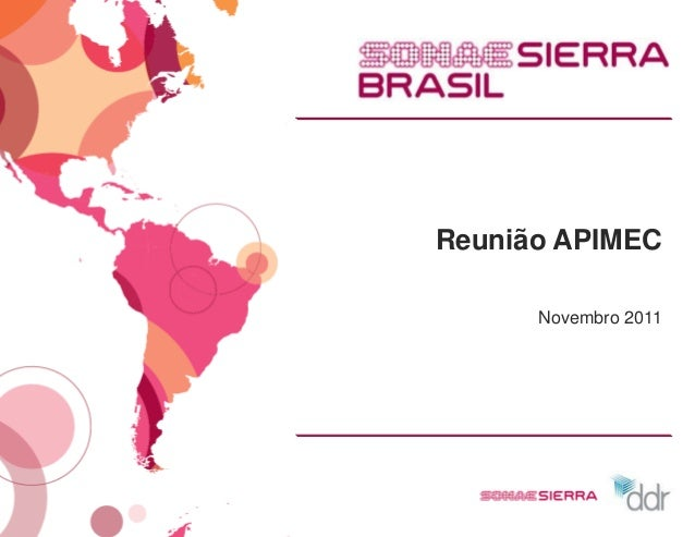 Reunião APIMEC      Novembro 2011