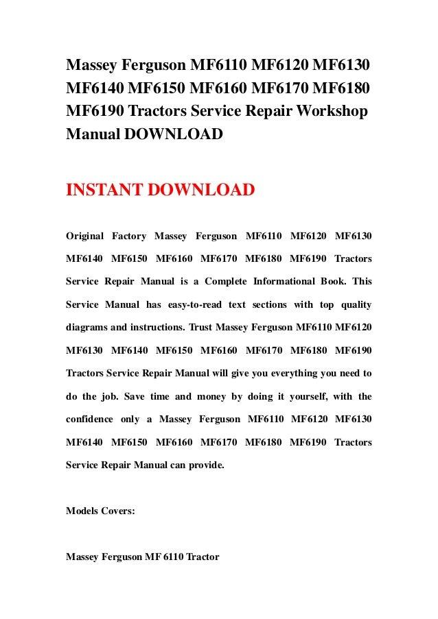 massey ferguson 6170 service manual