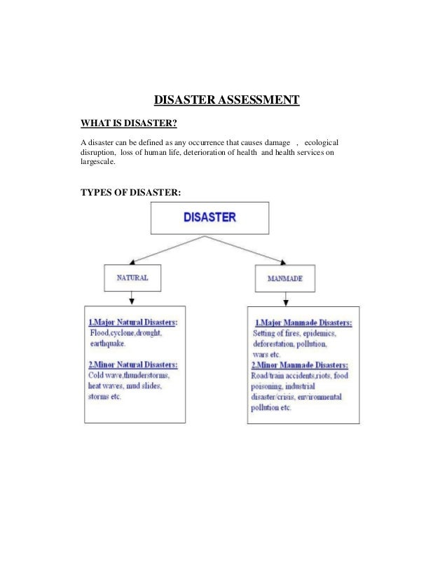 Of natural disasters pdf types