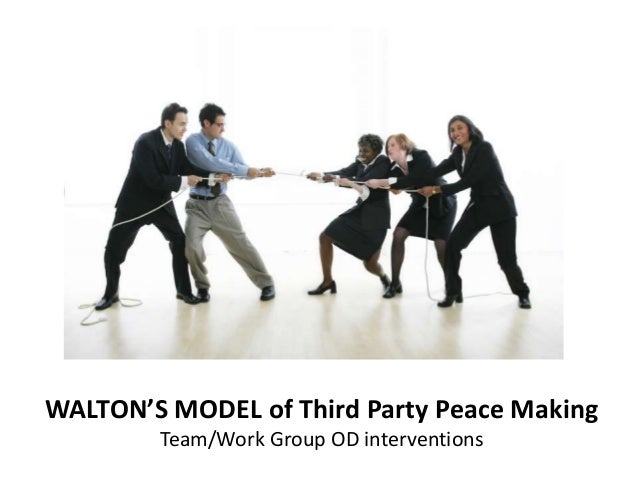 mediation in third party intervention International mediation, selection effects, and the question of bias bernd beber the most common form of peaceful third-party intervention in international con.