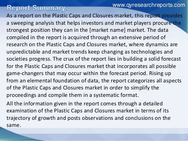 global caps and closures market 2012 2016 This market research report identifies players like amcor, caps & closures, o berk, csi, and gcs to be the key vendors in the global pharmaceuticals caps  and.