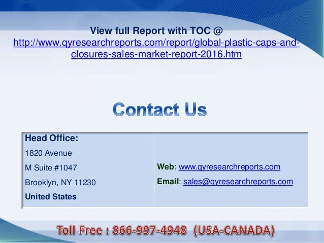 global caps and closures market 2012 2016 Overview of audit closure & reporting the audit report should serve the fundamental purpose of informing the global caps and closures market 2012-2016.