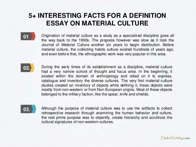 material culture essay