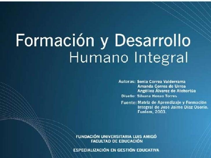 23.1 formación  y desarrollo humano