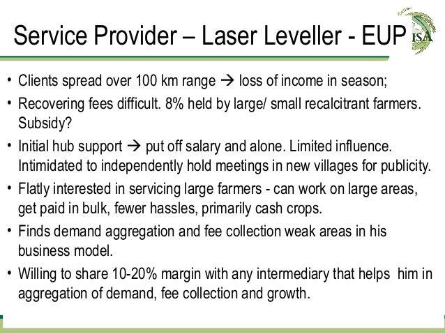 Service Provider – Laser Leveller - EUP          Demand                    Demand Aggregation                             ...