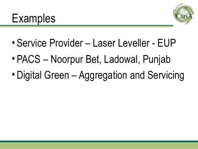 Example 1: Smallholder Aggregators