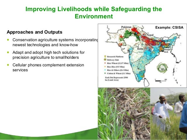 Improving Livelihoods while Safeguarding the                         Environment                                          ...