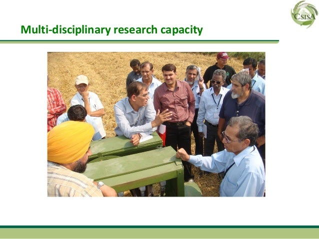Multi-disciplinary research capacity