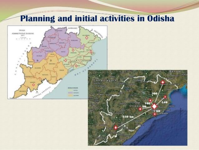 Locational map of the project India                     OdishaBhadrak                          Puri