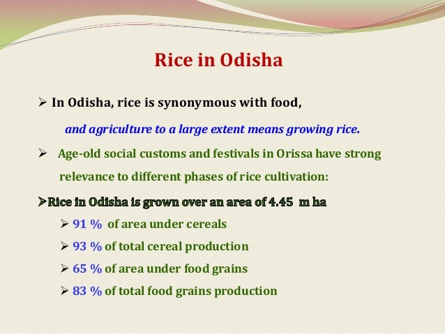 Rice ecosystems in Odisha            Ecosystems          Area under       Major stress (physical)                         ...