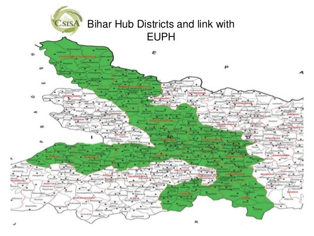Bihar Hub Districts and link with            EUPH