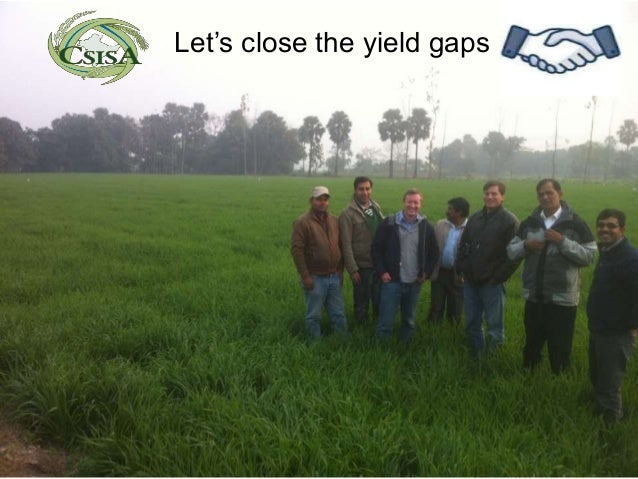 Let's close the yield gaps
