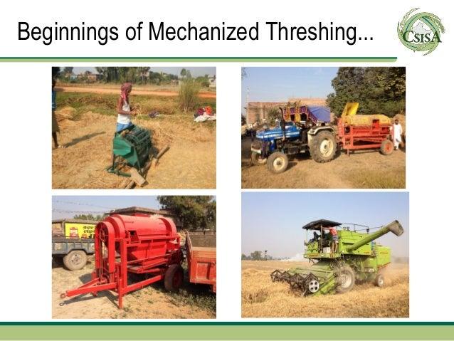 Beginnings of Mechanized Threshing...