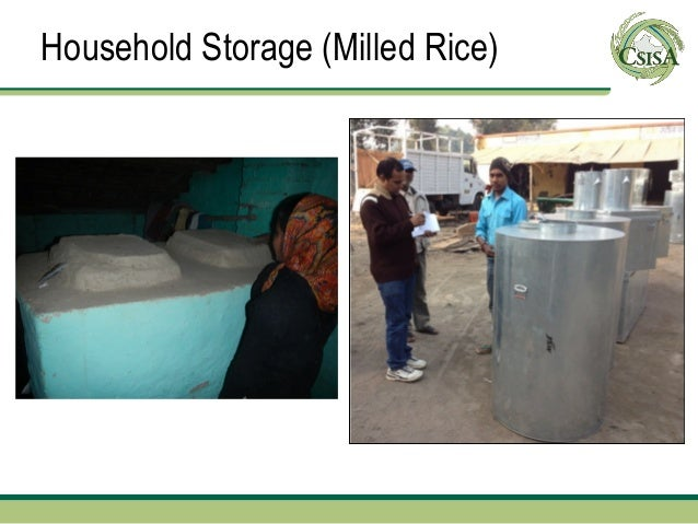 Household Storage (Milled Rice)