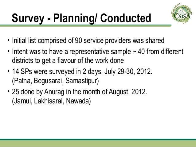 23  25 jan 2013 csisa kathmandu service provider survey aanand Slide 3