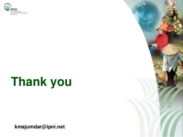 Thank youkmajumdar@ipni.net