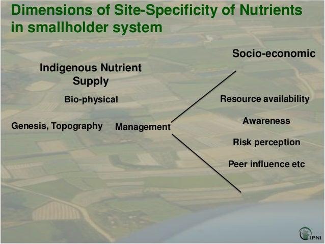 Dimensions of Site-Specificity of Nutrientsin smallholder system                                     Socio-economic     In...