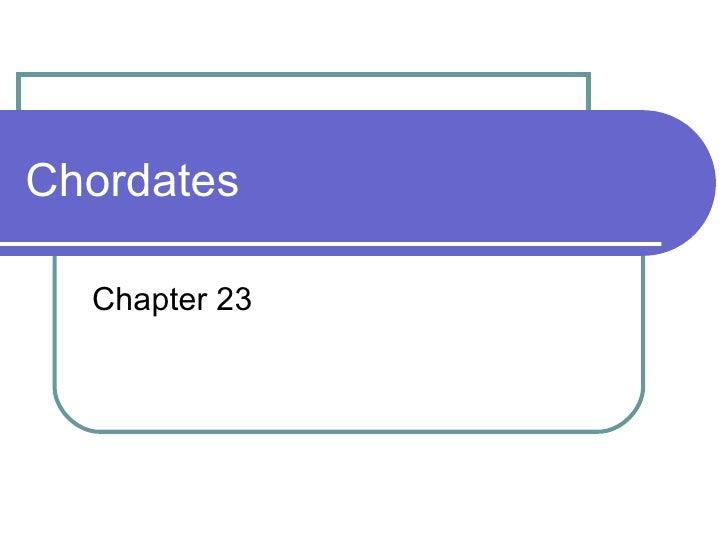 Chordates Chapter 23