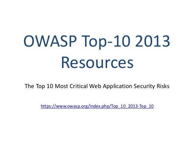 owasp top 10 web application security risks for asp net