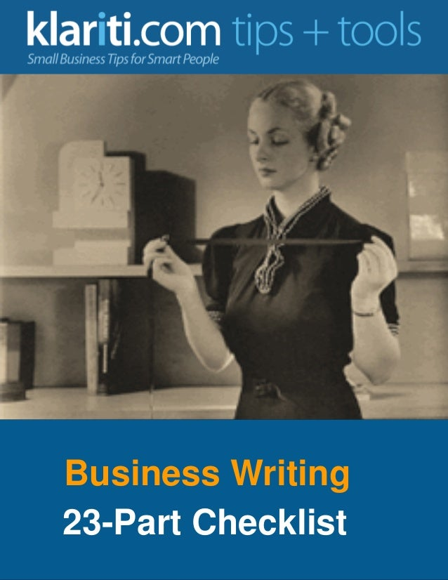 Business Writing 23-Part Checklist