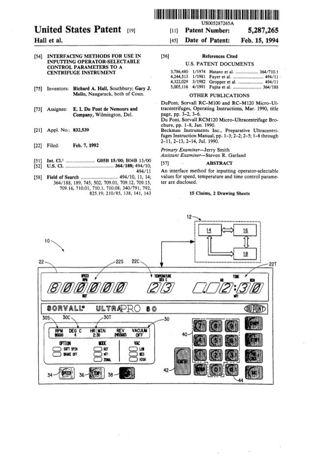United States Patent [19] Hallet al. [54] INTERFACING METHODS FOR USE IN INPUTTING OPERATOR-SELECI'ABLE CONTROL PARAMETERS...