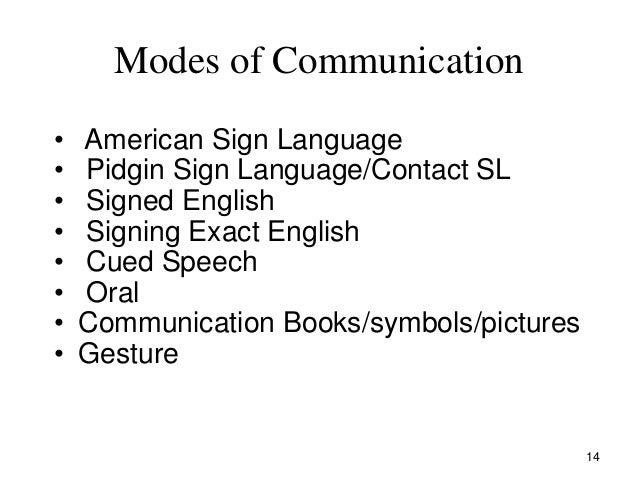 English language oral communication needs at