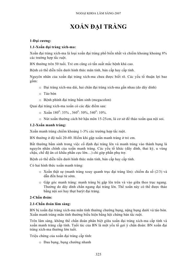 NGOẠI KHOA LÂM SÀNG-2007                              XOẮN ĐẠI TRÀNG  1-Đại cương: 1.1-Xoắn đại tràng xích-ma: Xoắn đại tr...