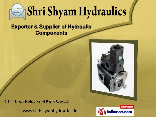 Exporter & Supplier of Hydraulic         Components